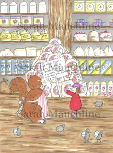 'Mrs Scarlet the squirrel' and 'Posie Pixie' in Whimsy Wood's 'Woodland Store' 😊